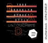 vector tshirt design with... | Shutterstock .eps vector #1096193819