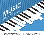 music event poster isometric... | Shutterstock .eps vector #1096194911