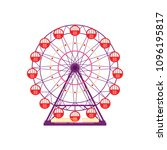 colorful ferris wheel ...   Shutterstock .eps vector #1096195817