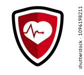 cardio icon and shield....   Shutterstock .eps vector #1096198211
