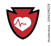 cardio icon and shield....   Shutterstock .eps vector #1096198229