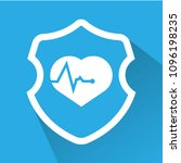 cardio icon and shield....   Shutterstock .eps vector #1096198235