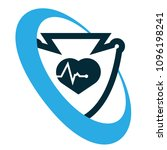 cardio icon and shield....   Shutterstock .eps vector #1096198241
