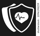 cardio icon and shield....   Shutterstock .eps vector #1096198259