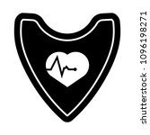 cardio icon and shield....   Shutterstock .eps vector #1096198271