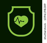 cardio icon and shield....   Shutterstock .eps vector #1096198289