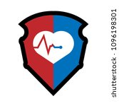 cardio icon and shield....   Shutterstock .eps vector #1096198301