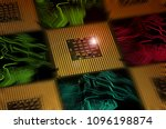 aligned cpu chips processor and ... | Shutterstock . vector #1096198874