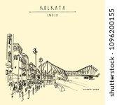 kolkata  india. the british era ... | Shutterstock .eps vector #1096200155