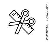 tailor made icon | Shutterstock .eps vector #1096206044