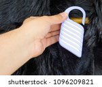 a man's hand with anti moth for ... | Shutterstock . vector #1096209821