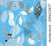 abstract flower seamless... | Shutterstock .eps vector #1096215677