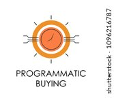 colored programmatic buying... | Shutterstock .eps vector #1096216787