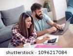 family debts and financial...   Shutterstock . vector #1096217084