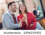 happy young couple.they are... | Shutterstock . vector #1096219301