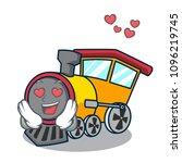 in love train mascot cartoon...   Shutterstock .eps vector #1096219745