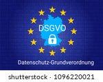 dsgvo   german datenschutz... | Shutterstock . vector #1096220021