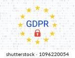 gdpr   general data protection... | Shutterstock . vector #1096220054