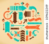 A set of web design elements in vintage style. | Shutterstock vector #109622249
