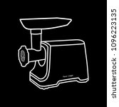 meat grinder icon drawing in... | Shutterstock .eps vector #1096223135