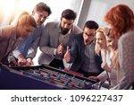 business people having great... | Shutterstock . vector #1096227437