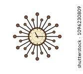 retro wall clock. vector.... | Shutterstock .eps vector #1096230809