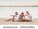 group of happy young people... | Shutterstock . vector #1096232861