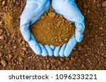 testing the soil sample on hand ... | Shutterstock . vector #1096233221