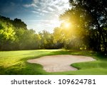 irish idyllic golf course in... | Shutterstock . vector #109624781