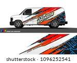 cargo van livery graphic vector.... | Shutterstock .eps vector #1096252541