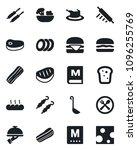 set of vector isolated black... | Shutterstock .eps vector #1096255769