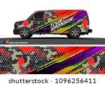 cargo van graphic vector.... | Shutterstock .eps vector #1096256411