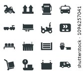 black vector icon set harvester ... | Shutterstock .eps vector #1096257041