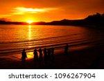 gloden light of sunset on the... | Shutterstock . vector #1096267904