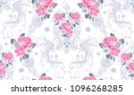 seamless pattern with paisley... | Shutterstock .eps vector #1096268285