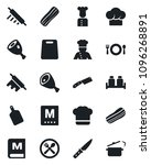 set of vector isolated black... | Shutterstock .eps vector #1096268891