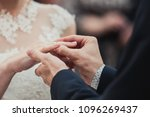 the bridegroom is wearing a... | Shutterstock . vector #1096269437