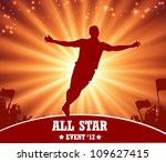 soccer and sport poster | Shutterstock .eps vector #109627415