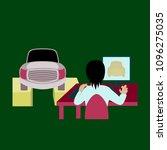 car service computer diagnostics | Shutterstock .eps vector #1096275035
