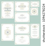 set wedding invitations cards...   Shutterstock .eps vector #1096278224