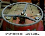 A Vintage Tractor Steering Wheel