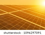 Small photo of Rows of solar cells in solar power plant turn up skyward absorb the sunlight from the sun use light energy to generate electricity on sunset time