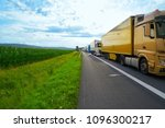 germany traffic jam in a road... | Shutterstock . vector #1096300217