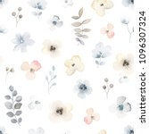 gentle floral pattern with...   Shutterstock .eps vector #1096307324