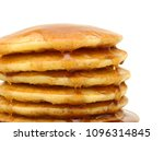 a stack of plain pancakes and...   Shutterstock . vector #1096314845