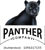 black panther logo | Shutterstock .eps vector #1096317155