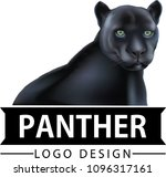 black panther logo | Shutterstock .eps vector #1096317161