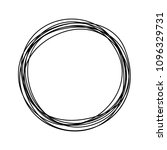 grungy round scribble circle... | Shutterstock .eps vector #1096329731