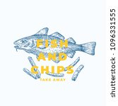 fish and chips abstract vector... | Shutterstock .eps vector #1096331555