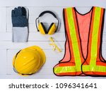 standard construction safety... | Shutterstock . vector #1096341641